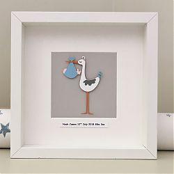 Personalised New baby - Stork