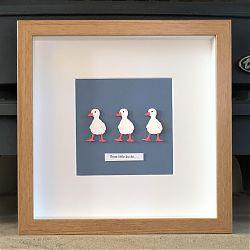 Three little ducks..