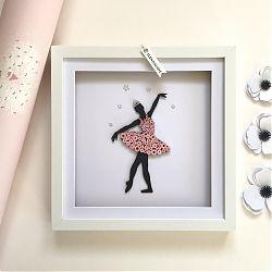 Quilled Ballerina Silhouette