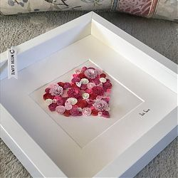 Pink and Red Quilled Heart
