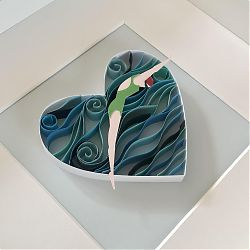 Quilled Heart and Swimmer
