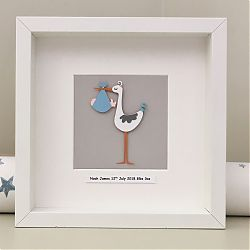 Personalised New baby - Stork