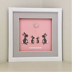 Personalised Pink Bunny Family